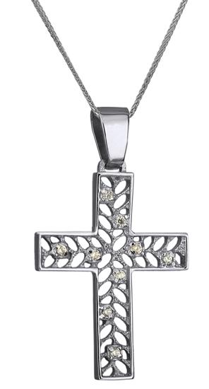 Βαπτιστικοί Σταυροί με Αλυσίδα ΣΤΑΥΡΟΣ ΛΕΥΚΟΧΡΥΣΟΣ 14Κ ΜΕ ΑΛΥΣΙΔΑ 014273C Γυναικείο Χρυσός 14 Καράτια