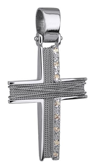 Σταυροί Βάπτισης - Αρραβώνα ΛΕΥΚΟΧΡΥΣΟΣ ΣΤΑΥΡΟΣ 14Κ 014274 014274 Γυναικείο Χρυσός 14 Καράτια