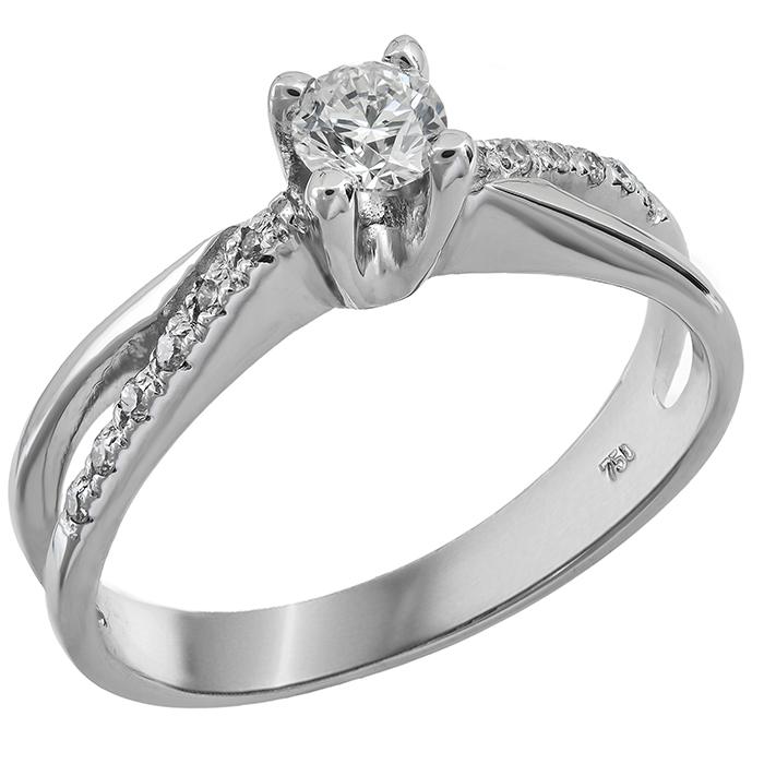 Μονόπετρο δαχτυλίδι Κ18 με μπριγιάν 001450 001450 Χρυσός 18 Καράτια
