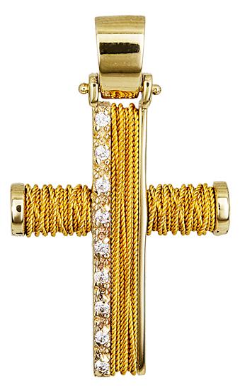 Σταυροί Βάπτισης - Αρραβώνα ΧΕΙΡΟΠΟΙΗΤΟΣ ΧΡΥΣΟΣ ΣΤΑΥΡΟΣ ΓΙΑ ΚΟΡΙΤΣΙ 014355 Γυναικείο Χρυσός 14 Καράτια