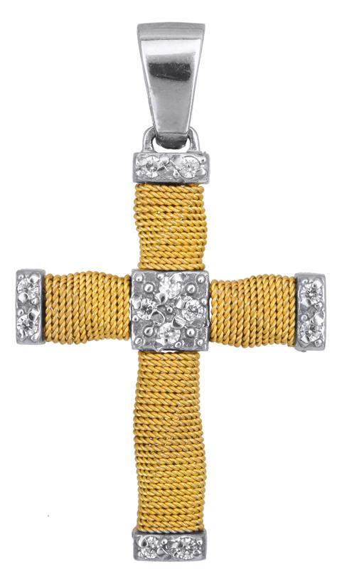 Σταυροί Βάπτισης - Αρραβώνα Χειροποίητος γυανικείος σταυρός 14Κ 014374 Γυναικείο Χρυσός 14 Καράτια