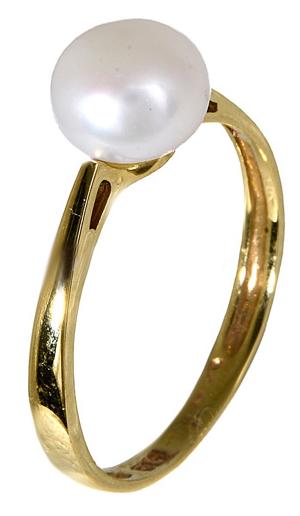 Χρυσό δαχτυλίδι με μαργαριτάρι 014387 Χρυσός 14 Καράτια