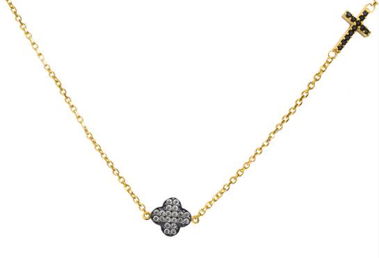 Χρυσό Κολιέ Κ14 με πέτρες 014508 Χρυσός 14 Καράτια