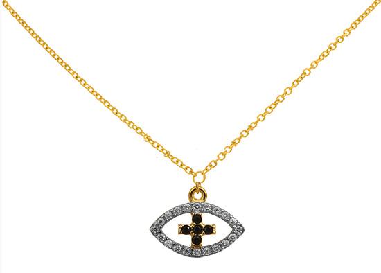 Χρυσό Κολιέ 9K Με Πέτρες 014645 Χρυσός 9 Καράτια