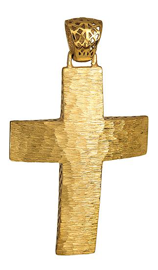 Σταυροί Βάπτισης - Αρραβώνα Ανάγλυφος Χρυσός Σταυρός 14Κ 014712 014712 Ανδρικό Χρυσός 14 Καράτια