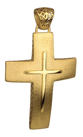 Σταυροί Βάπτισης - Αρραβώνα ΜΑΤ ΧΡΥΣΟΣ ΣΤΑΥΡΟΣ 14Κ 014716 014716 Ανδρικό Χρυσός 14 Καράτια