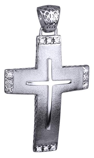 Σταυροί Βάπτισης - Αρραβώνα ΜΑΤ ΛΕΥΚΟΧΡΥΣΟΣ ΣΤΑΥΡΟΣ 14K 014734 014734 Γυναικείο Χρυσός 14 Καράτια
