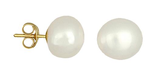 Επίχρυσα σκουλαρίκια με μαργαριτάρι 020435 020435 Ασήμι