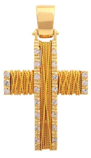 Σταυροί Βάπτισης - Αρραβώνα Χειροποίητος Χρυσός Σταυρός 9Κ 014756 Γυναικείο Χρυσός 9 Καράτια
