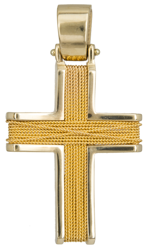 Σταυροί Βάπτισης - Αρραβώνα Χειροποίητος Χρυσός Σταυρός 9 Καράτια 014758 Ανδρικό Χρυσός 9 Καράτια