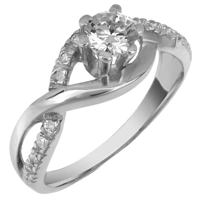 Λευκόχρυσο μονόπετρο δαχτυλίδι 014803 014803 Χρυσός 14 Καράτια