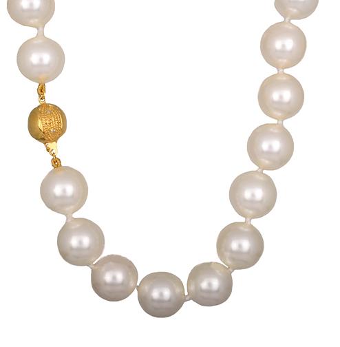 Επίχρυσο Ασημένιο Κολιέ 925 με Μαργαριτάρια 014807 Ασήμι ασημένια κοσμήματα κολιέ