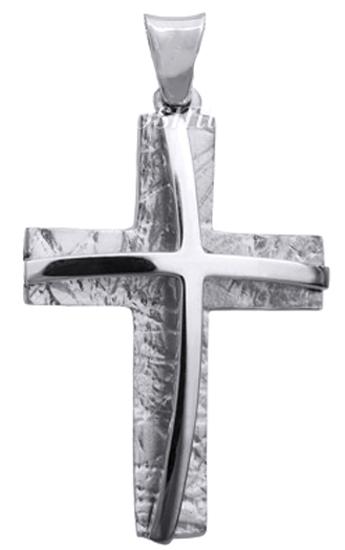 Σταυροί Βάπτισης - Αρραβώνα Λευκός Σταυρός 14K Αντρικός 014847 014847 Ανδρικό Χρυσός 14 Καράτια