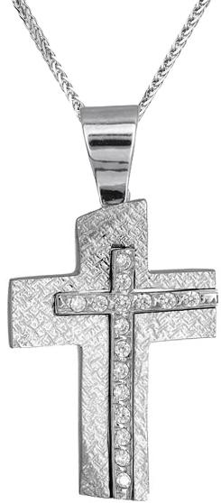 Βαπτιστικοί Σταυροί με Αλυσίδα Σταυρός για κορίτσι C014969 014969C Γυναικείο Χρυσός 9 Καράτια