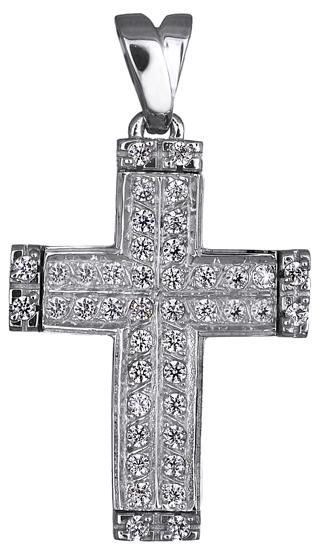 Σταυροί Βάπτισης - Αρραβώνα ΛΕΥΚΟΧΡΥΣΟΣ ΠΕΤΡΑΤΟΣ ΣΤΑΥΡΟΣ 14Κ 014977 014977 Γυναικείο Χρυσός 14 Καράτια