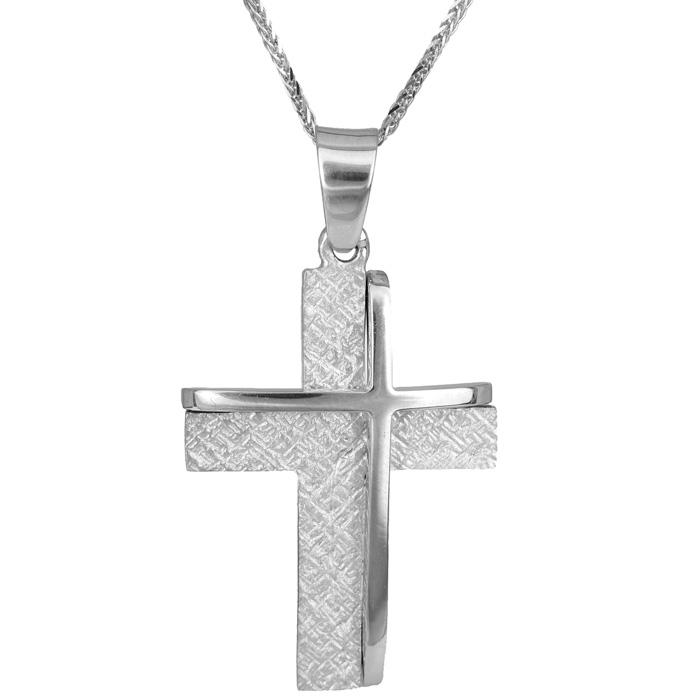Βαπτιστικοί Σταυροί με Αλυσίδα Ανδρικός σταυρός Κ14 C014996 014996C Ανδρικό Χρυσός 14 Καράτια
