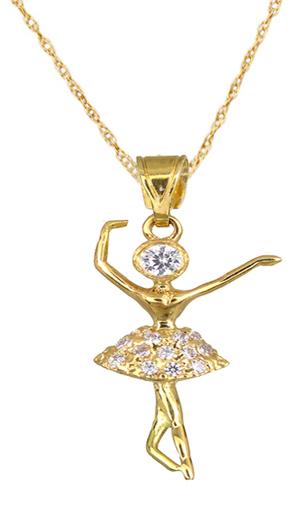 Χρυσό Κολιέ 14Κ Μπαλαρίνα 014997c Χρυσός 14 Καράτια