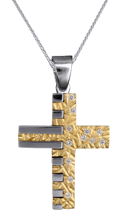 Βαπτιστικοί Σταυροί με Αλυσίδα ΒΑΠΤΙΣΤΙΚΟ ΣΕΤ ΑΠΟ ΠΕΤΡΑΤΟ ΣΤΑΥΡΟ ΚΑΙ ΑΛΥΣΙΔΑ 14Κ C015108 015108C Γυναικείο Χρυσός 14 Καράτια