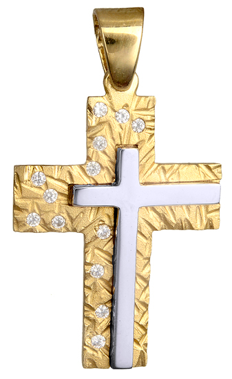 Σταυροί Βάπτισης - Αρραβώνα ΣΤΑΥΡΟΣ ΠΕΤΡΑΤΟΣ Κ14 ΓΙΑ ΚΟΡΙΤΣΙ 015110 015110 Γυναικείο Χρυσός 14 Καράτια