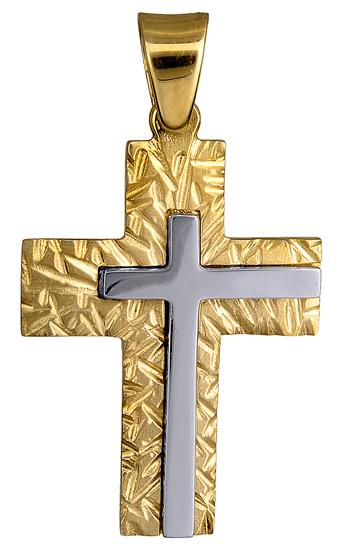 Σταυροί Βάπτισης - Αρραβώνα ΑΝΑΓΛΥΦΟΣ ΑΝΤΡΙΚΟΣ ΣΤΑΥΡΟΣ 14Κ 015144 015144 Ανδρικό Χρυσός 14 Καράτια