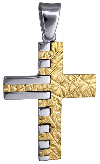 Σταυροί Βάπτισης - Αρραβώνα ΜΟΝΤΕΡΝΟΣ ΒΑΠΤΙΣΤΙΚΟΣ ΣΤΑΥΡΟΣ 015146 015146 Ανδρικό Χρυσός 14 Καράτια