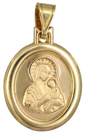 Χρυσό φυλαχτό της Παναγίας Κ14 015202 015202 Χρυσός 14 Καράτια