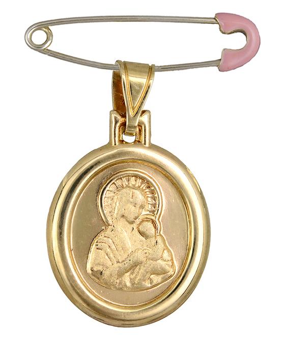 Χρυσό φυλαχτό της Παναγίας Κ14 C015202 015202C Χρυσός 14 Καράτια