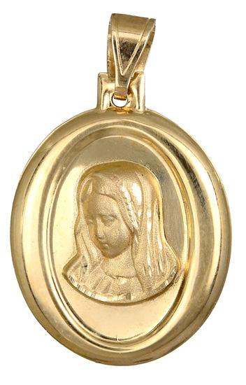 Χρυσό φυλαχτό με την Παναγία Κ14 015203 015203 Χρυσός 14 Καράτια