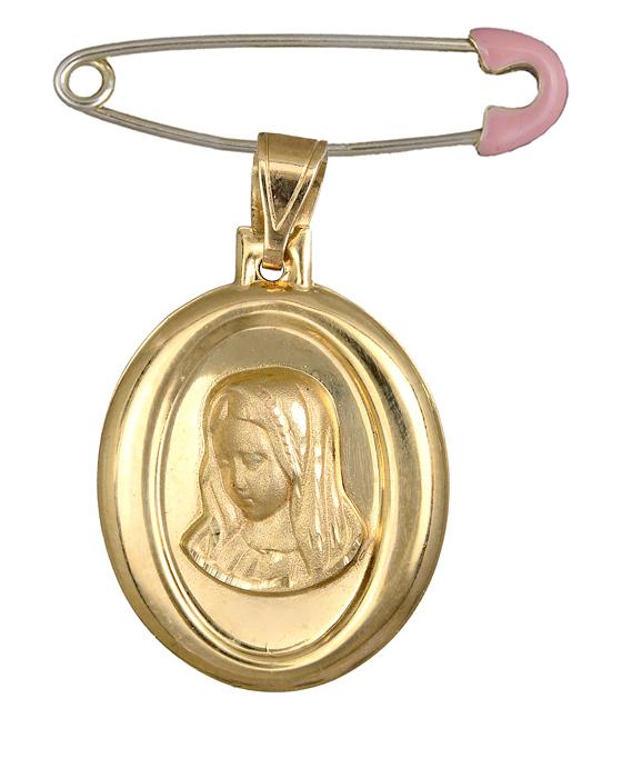 Χρυσό φυλαχτό της Παναγίας Κ14 C015203 015203C Χρυσός 14 Καράτια