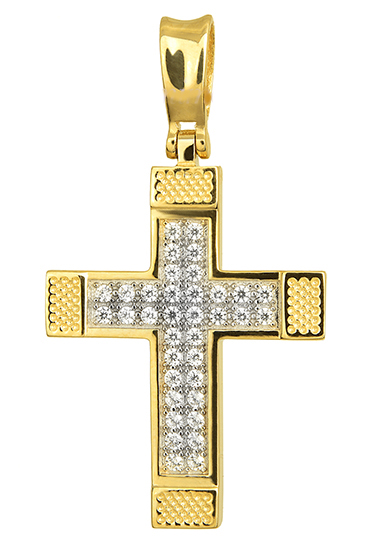 Σταυροί Βάπτισης - Αρραβώνα ΧΡΥΣΟ ΣΤΑΥΡΟ 015264 Γυναικείο Χρυσός 14 Καράτια σταυροί βάπτισης   γάμου σταυροί βάπτισης   αρραβώνα