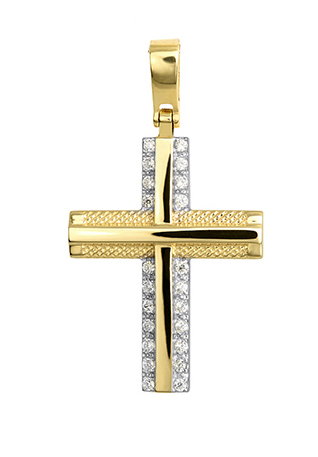 Σταυροί Βάπτισης - Αρραβώνα Χρυσός Σταυρός 015267 Γυναικείο Χρυσός 14 Καράτια