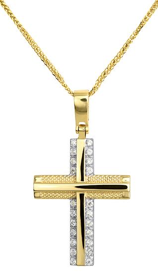 Βαπτιστικοί Σταυροί με Αλυσίδα Χρυσός Σταυρός Αλυσίδα 015267C 015267C Γυναικείο Χρυσός 14 Καράτια