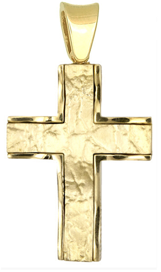 Σταυροί Βάπτισης - Αρραβώνα Ανδρικός σταυρός 18Κ 015408 015408 Ανδρικό Χρυσός 18 Καράτια