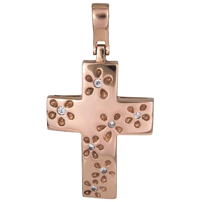 Σταυροί Βάπτισης - Αρραβώνα Ροζ Gold Σταυρός 015473 015473 Γυναικείο Χρυσός 14 Καράτια