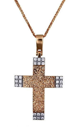 Βαπτιστικοί Σταυροί με Αλυσίδα ΓΥΝΑΙΚΕΙΟΙ ΣΤΑΥΡΟΙ 015478C Γυναικείο Χρυσός 14 Καράτια