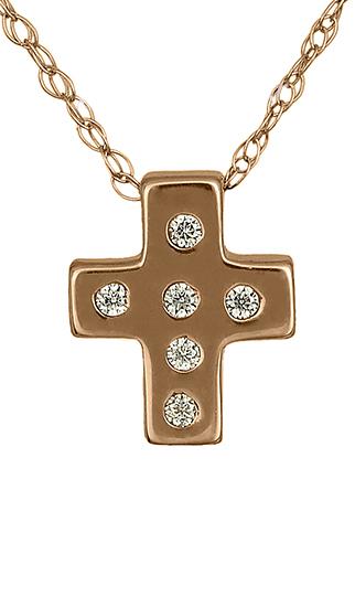 Σταυρός Γυναικείος c015480 015480c Χρυσός 14 Καράτια