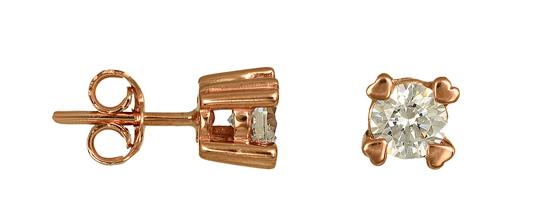 ΣΚΟΥΛΑΡΙΚΙΑ ΡΟΖ 015484 Χρυσός 14 Καράτια