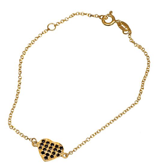 Βραχιόλι Χρυσό 9Κ με Καρδιά 015719 015719 Χρυσός 9 Καράτια