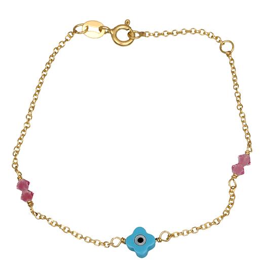 Παιδικό βραχιόλι 015778 015778 Χρυσός 9 Καράτια παιδικά κοσμήματα βραχιόλια
