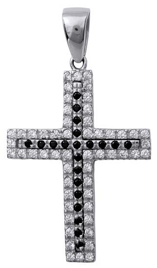Σταυροί Βάπτισης - Αρραβώνα Γυναικείος πετράτος σταυρός 14Κ 015788 015788 Γυναικείο Χρυσός 14 Καράτια