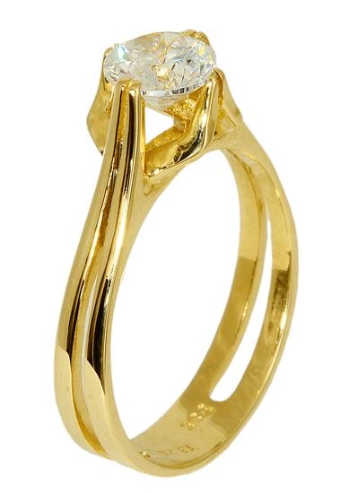 ΜΟΝΟΠΕΤΡΑ ΜΕ ΖΙΡΓΚΟΝ ΤΙΜΕΣ 015803 015803 Χρυσός 14 Καράτια χρυσά κοσμήματα δαχτυλίδια μονόπετρα