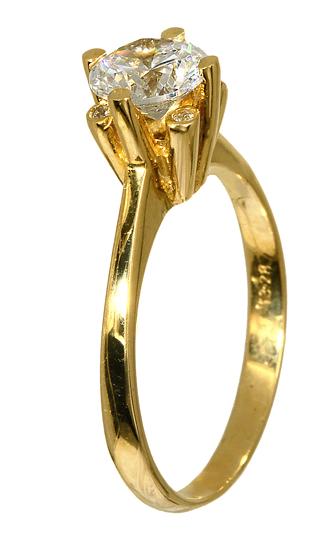 ΧΡΥΣΑ ΔΑΧΤΥΛΙΔΙΑ ΣΕ ΟΙΚΟΝΟΜΙΚΕΣ ΤΙΜΕΣ 015805 Χρυσός 14 Καράτια χρυσά κοσμήματα δαχτυλίδια μονόπετρα
