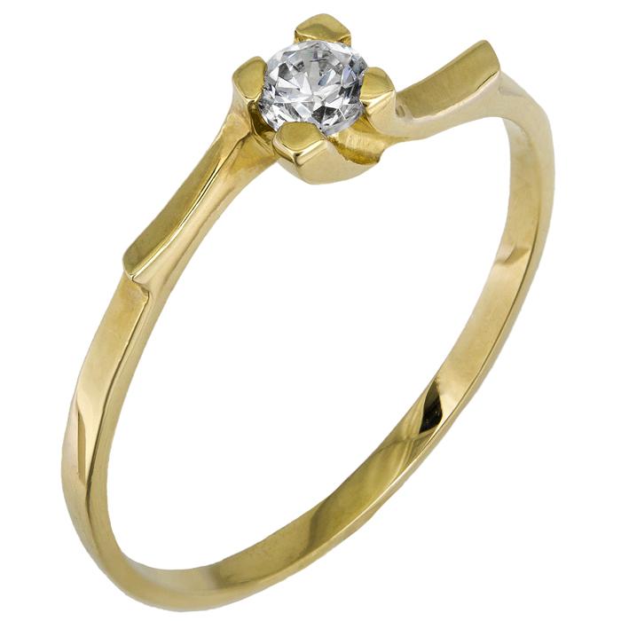 Γυναικείο μονόπετρο Κ14 015830 015830 Χρυσός 14 Καράτια