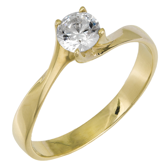 Μονόπετρο δαχτυλίδι Κ14 015833 015833 Χρυσός 14 Καράτια c8a106a6495