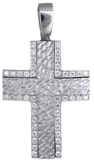 Σταυροί Βάπτισης - Αρραβώνα Γυναικείος λευκόχρυσος σταυρός 9Κ 015846 015846 Γυναικείο Χρυσός 9 Καράτια