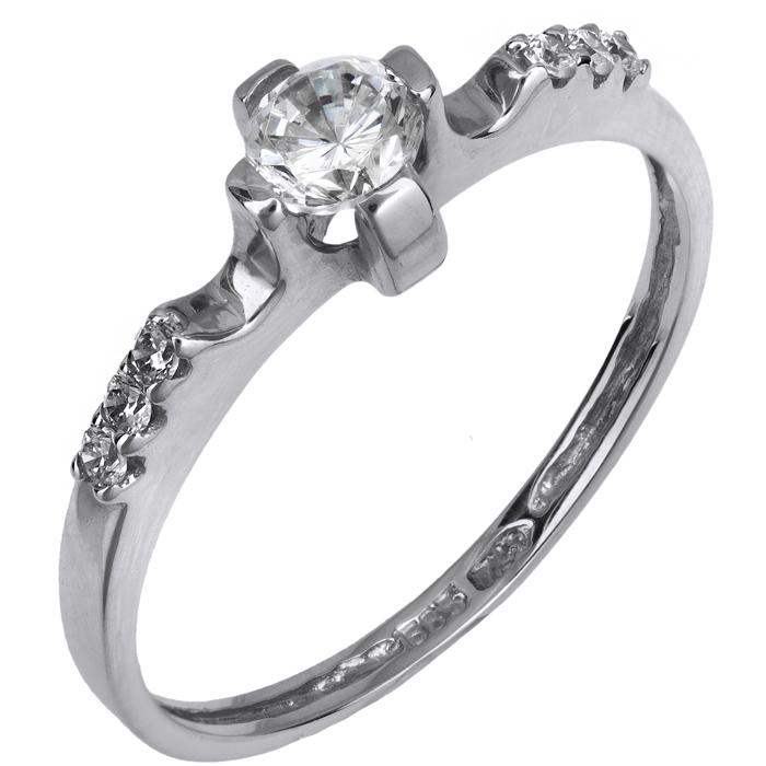 Μονόπετρο δαχτυλίδι Κ14 015858 015858 Χρυσός 14 Καράτια
