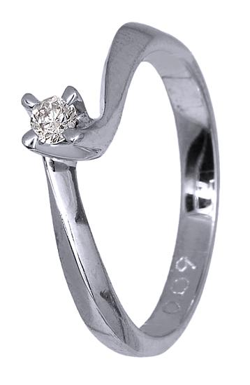 Γυναικείο δαχτυλίδι Κ18 με διαμάντι 018747 018747 Χρυσός 18 Καράτια