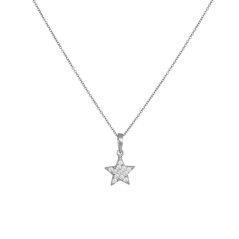 Λευκόχρυσο κολιέ αστέρι Κ14 015918 015918 Χρυσός 14 Καράτια 5323ebec471