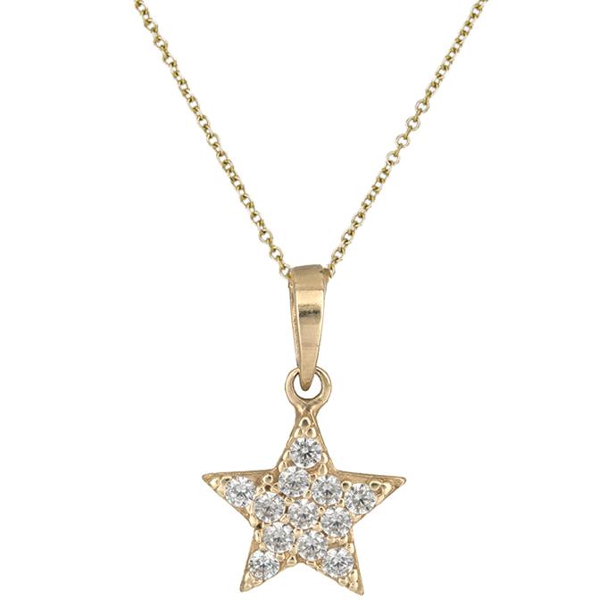 Χρυσό κολιέ αστέρι Κ14 015921 015921 Χρυσός 14 Καράτια