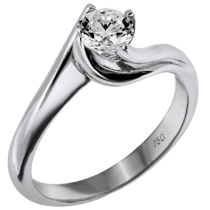 Μονόπετρο δαχτυλίδι Κ18 με μπριγιάν 015965 015965 Χρυσός 18 Καράτια